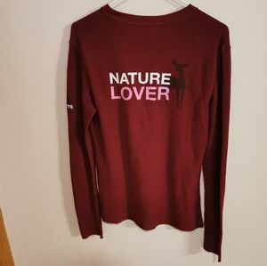 Roots nature lover long sleeve top size M